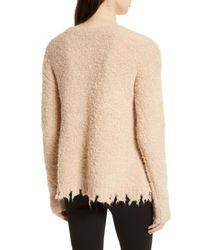 ATM - Natural Destroyed Hem Sweater - Lyst