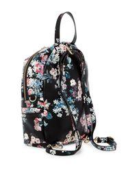 T-Shirt & Jeans - Black Mini Pretty Punk Floral Print Backpack - Lyst
