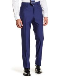 Strong Suit - Blue Dagger Flat Front Trim Fit Trousers for Men - Lyst