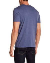 Jack Spade - Blue End On End Crew Neck Tee for Men - Lyst