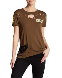 Chaser - Brown Love Tee - Lyst