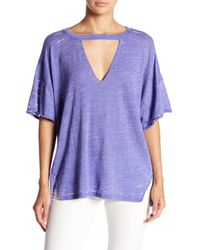 Free People - Purple Jordan Burnout Tee - Lyst