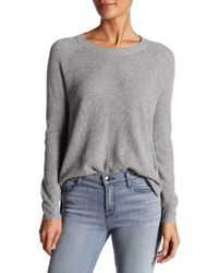 Madewell - Gray Waffle Knit Pullover - Lyst
