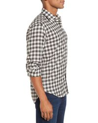 Culturata - Gray Trim Fit Check Sport Shirt for Men - Lyst