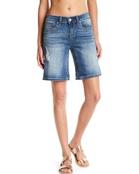 Seven7 - Blue Flap Pocket Short - Lyst