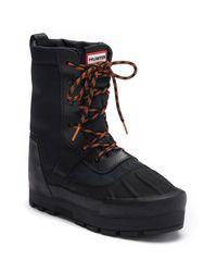 Hunter - Black Original Water Resistant Snow Boot for Men - Lyst