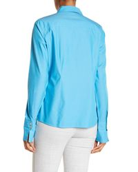 Foxcroft - Blue Lauren Fitted Shirt - Lyst