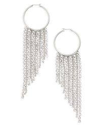 Loren Hope - Metallic Joanna Fringe Hoop Earrings - Lyst