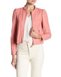 Rebecca Taylor - Pink Ruffled Leather Jacket - Lyst