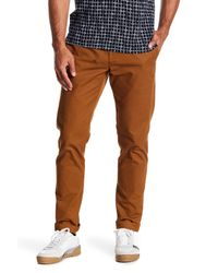 Original Penguin | Brown Slim Chino Pants for Men | Lyst