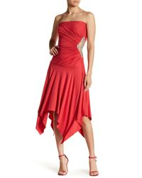 Sky - Red Frost Strapless Maxi Dress - Lyst