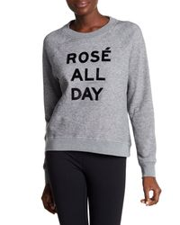 Betsey Johnson - Gray Rose All Day Sequin Pullover - Lyst