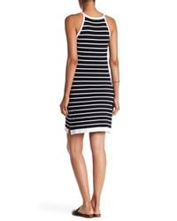 525 America - Black Stripe Lattice Dress - Lyst
