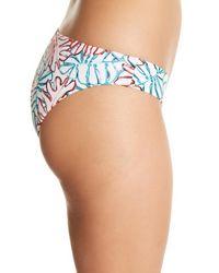 Onia - Blue Lily Tropical Leaves Bikini Bottom - Lyst