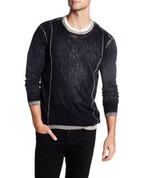 Autumn Cashmere - Black Inked Contrast Crew Neck Shirt for Men - Lyst