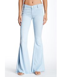 Blank NYC - Blue Flare Denim Jeans - Lyst