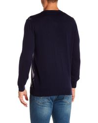 Bugatchi - Blue Classic Argyle Wool Sweater for Men - Lyst