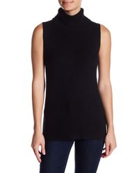 French Connection - Black Abel Sleeveless Turtleneck Sweater - Lyst