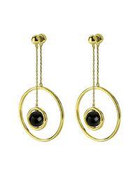 Noir Jewelry - Metallic Semiprecious Stone Inertia Earrings - Lyst