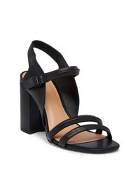 Halston Heritage - Black Sky In Cocle Ankle Strap Sandal - Lyst