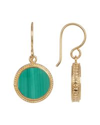 Anna Beck | Metallic 18k Gold Plated Sterling Silver Malachite Drop Earrings | Lyst