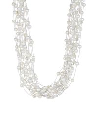 Splendid - White Baroque Shaped 5-11mm Cultured Freshwater Pearl Endless Necklace - Lyst