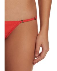 Minimale Animale - Red The Mirage Ribbed Bikini Bottoms - Lyst