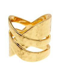 Gorjana - Metallic Amanda Crossover Ring - Size 6 - Lyst