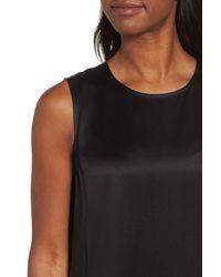 Eileen Fisher - Black Silk Shift Dress - Lyst