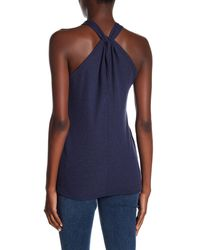 Go Couture - Blue Modern Halter Tank Top - Lyst