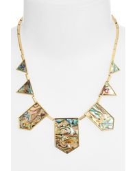 House of Harlow 1960 - Metallic Abalone Station Necklace - Lyst