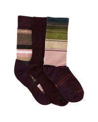 Smartwool - Multicolor Trio Wool Blend Socks - Pack Of 3 for Men - Lyst