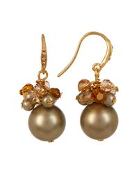 Carolee - Multicolor Cluster Simulated Pearl Drop Earrings - Lyst