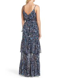 Eliza J - Blue Tiered Maxi Dress - Lyst