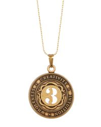 ALEX AND ANI - Metallic Numerology Number 3 Charm Necklace - Lyst