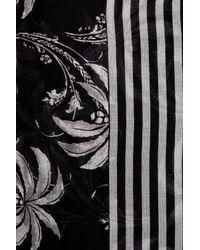 Tommy Bahama - Black Palm & Stripe Infinity Scarf - Lyst
