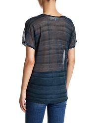 Inhabit - Blue Sheer Knit Tee - Lyst