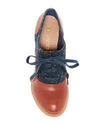 Restricted Blue Tamiko Two Tone Oxford Pump