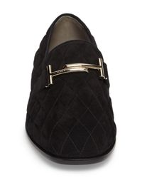 Tod's - Black Quilted Double T Loafer (women) - Lyst