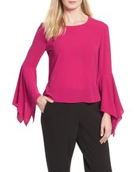 Vince Camuto - Pink Handkerchief Sleeve Blouse - Lyst