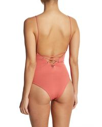 Tavik - Pink Monahan Lace-up One-piece Swimsuit - Lyst
