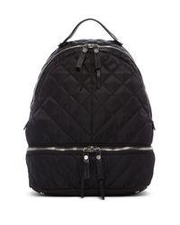 Sam Edelman Black Penelope Quilted Backpack