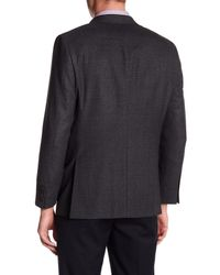 Hickey Freeman - Textured Black Two Button Notch Lapel Wool Sport Coat for Men - Lyst