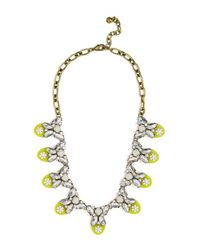 BaubleBar - Metallic Madeline Stone, Crystal, & Enamel Accented Bib Necklace - Lyst