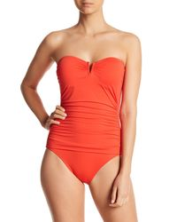 Tommy Bahama Red 'pearl' Convertible One-piece Swimsuit