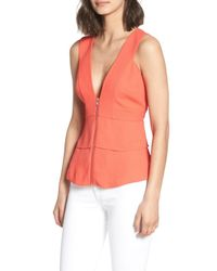 Trouvé - Multicolor Trouv? Trapunto Zip Front Sleeveless Top - Lyst
