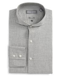 Michael Bastian - Gray Trim Fit Dress Shirt for Men - Lyst