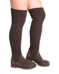 Muk Luks | Brown Kelby Faux Fur Lined Convertible Boot | Lyst