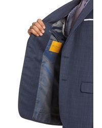 Hickey Freeman - Blue B-series Classic Fit Plaid Wool Suit for Men - Lyst
