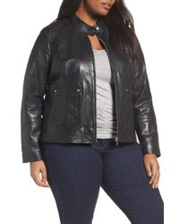 Bernardo - Black Kirwin Sheepskin Leather Jacket (plus Size) - Lyst